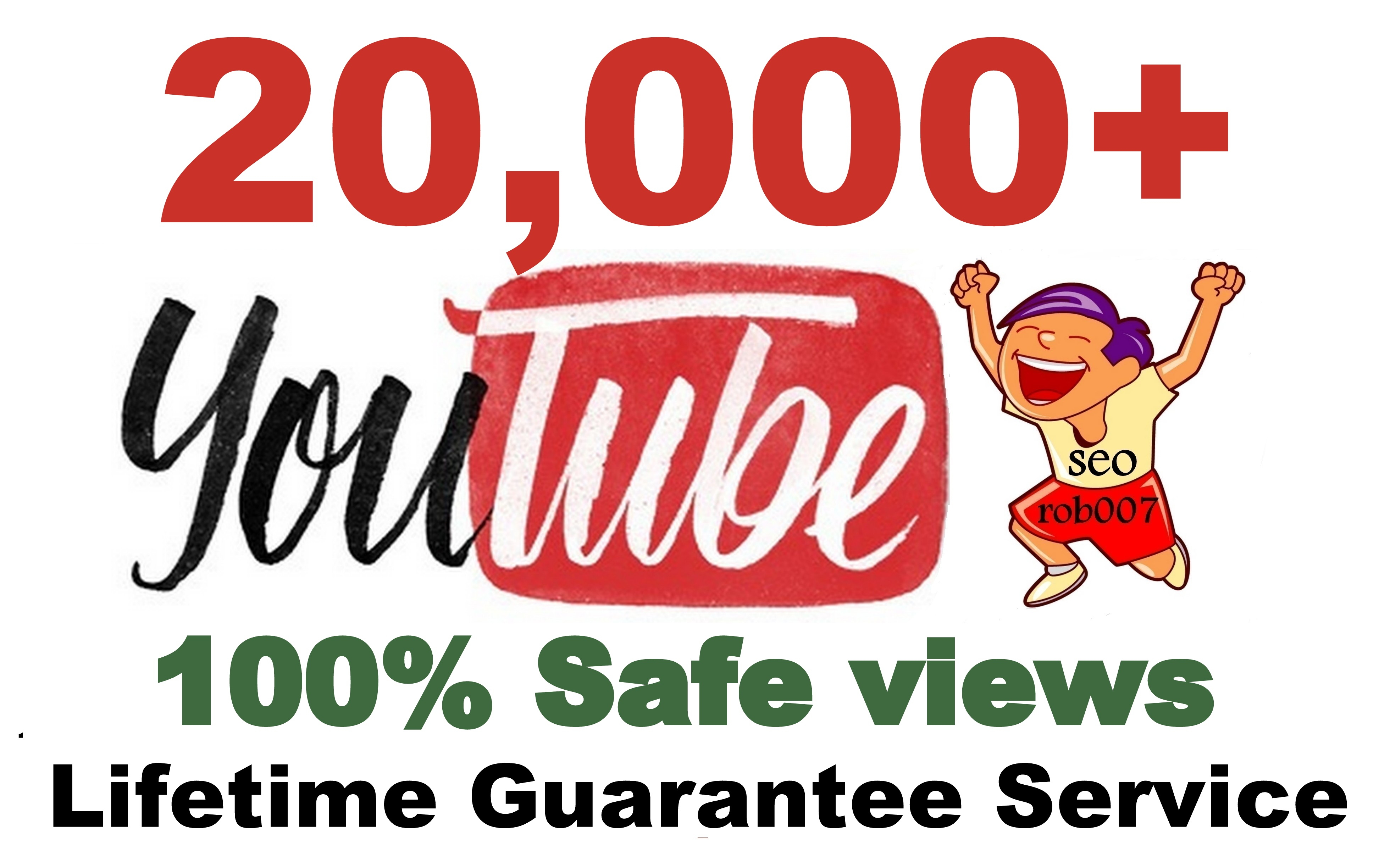 Safe 20000+ YouTube Views Lifetime Guarantee Promotion in 24-48 Hours Delivery