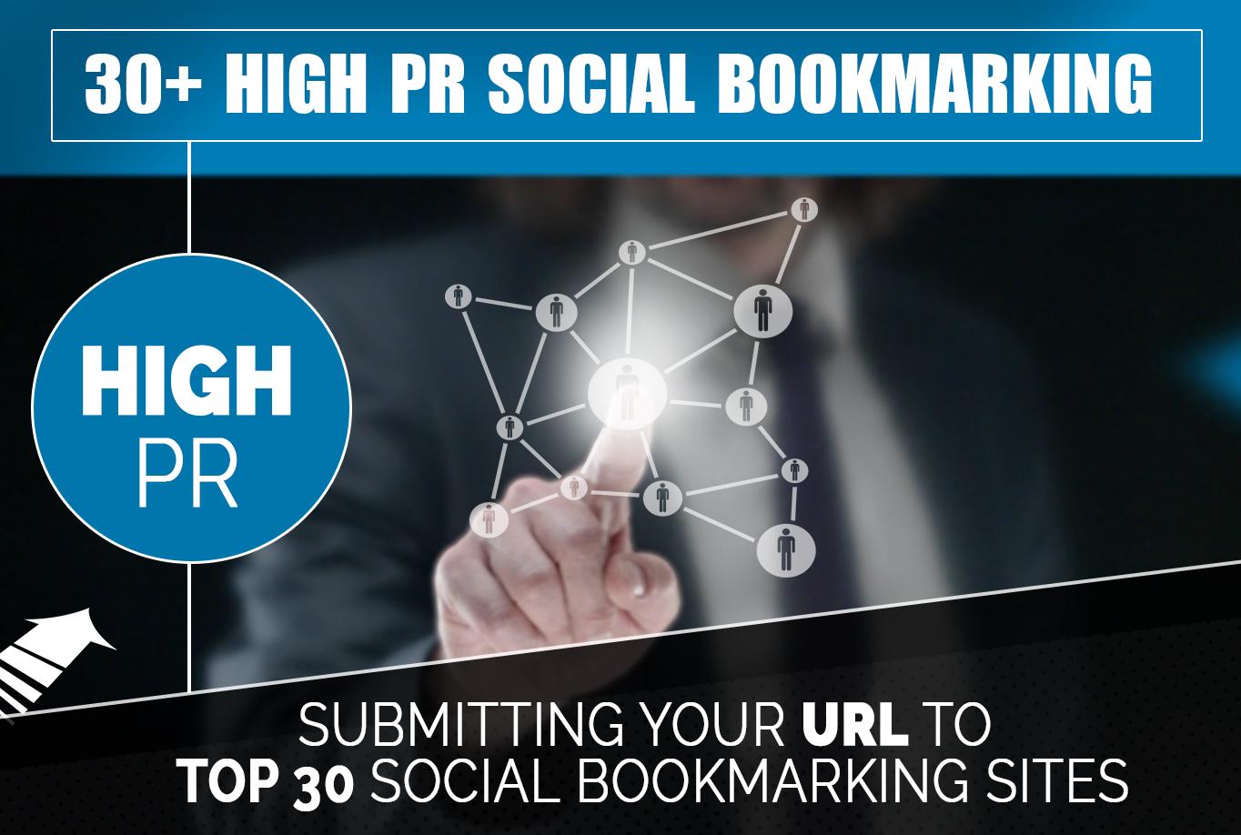 Creat 30+ PR 10 to PR 7 Social Bookmarks Backlinks