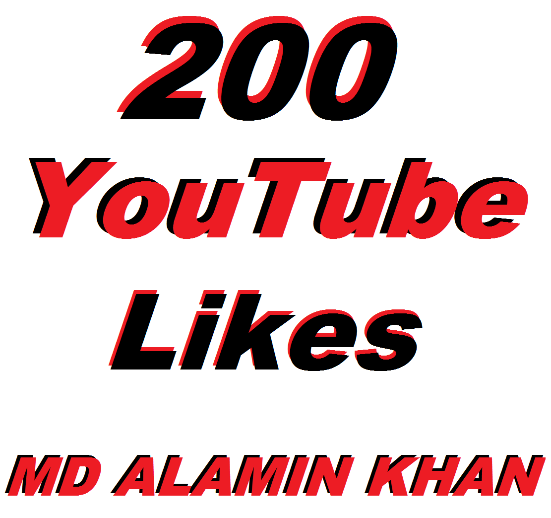 200 YouTube Video Likes In 12/24 Hours