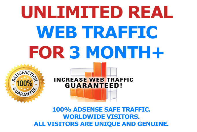 03 Month Website Promotion and Drive Visitors Traffic To WEBSITE OR ANY LINK