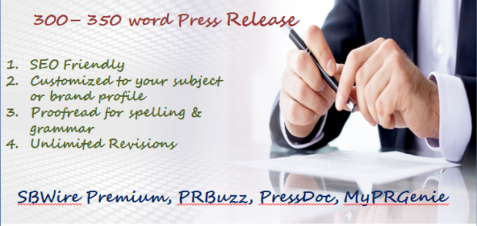 Press Release Writing & Submission