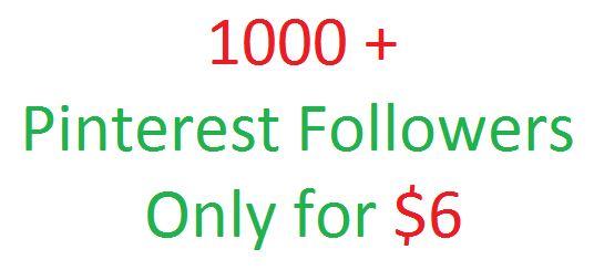 You will get 1500 pinterest followers