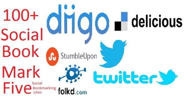 give you 10,Stumbleupon,diigo,Pinterest,Pearltrees,etc share groupTotal 100 Social Bookmark