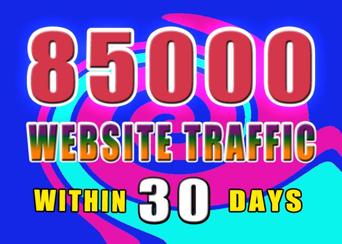85000  KEYWORD TARGETED website traffic