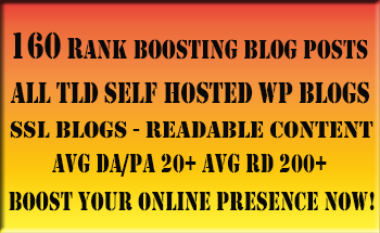 Boost Your SERP's with 160 Blog Posts Excellent DAPA ...