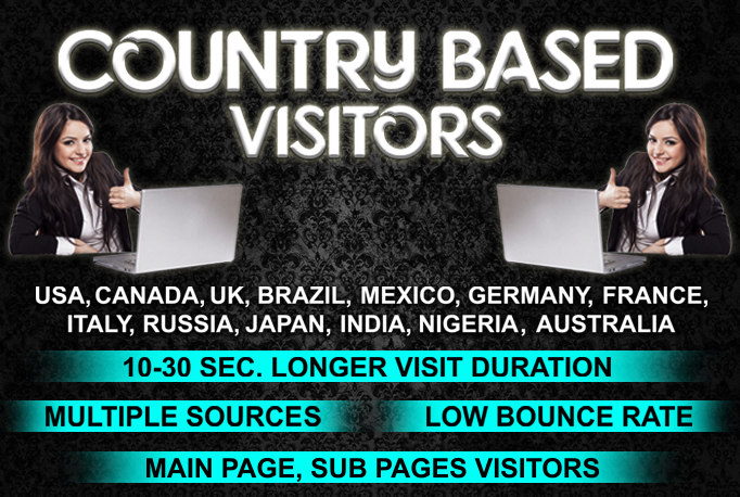 LOW BOUNCE UK,USA, EUROPE, AUSTRALIA website traffic visitors