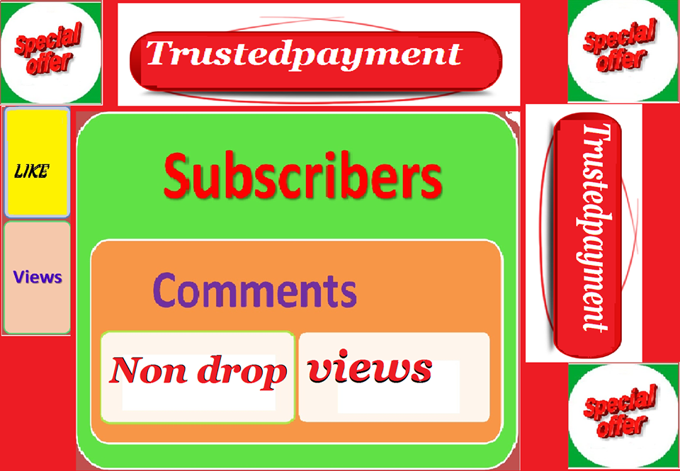 instant Start 1502+to 3001 Non Drop youtube views+1 like  within 1-6 hours delivery