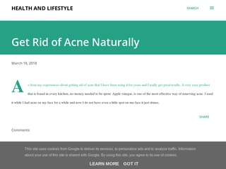 Get Rid of Acne Naturally Sponsored Blog Review