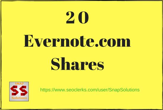 Bring You 20 Evernote. com App Shares Manually For Yo...