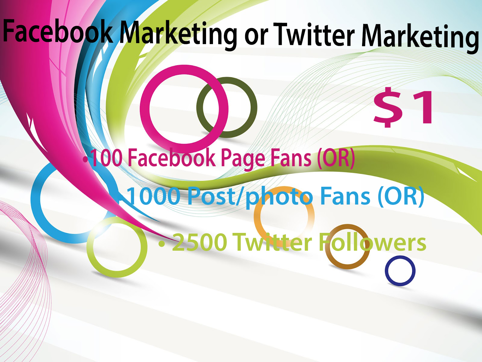 Facebook Page or Twitter Marketing