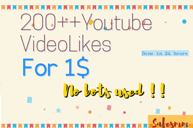 Add 200++ youtube likes to your video