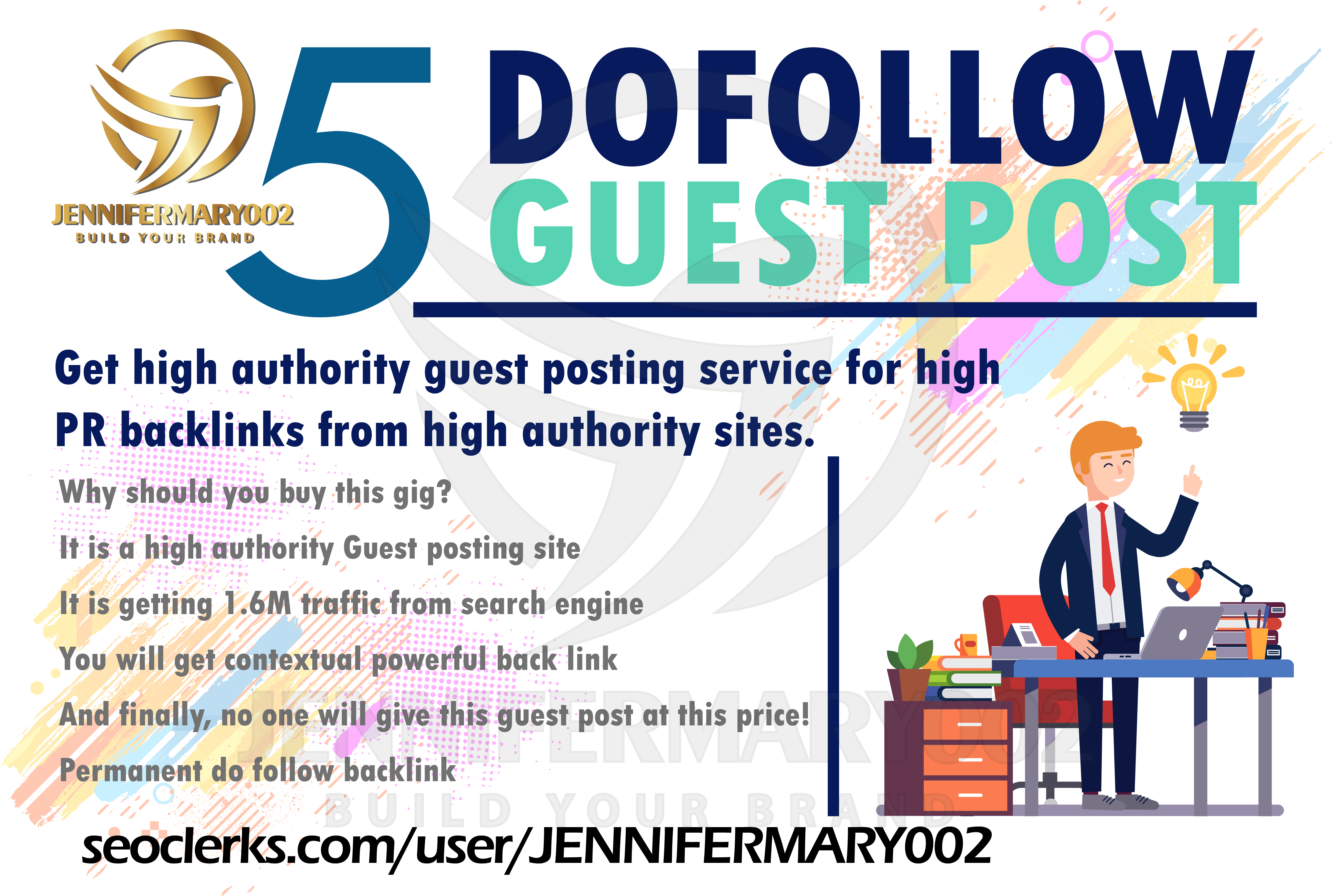 I Will Publish Your Guest Posting On 5 HQ Post Sites