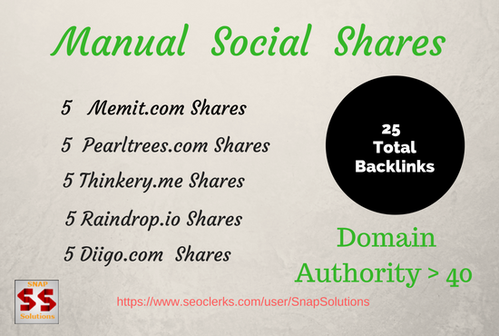 GIVE  5  Memit.com, 5 Pearltrees,  5 Thinkery, 5 Raindrop.io, 5 Diigo.com Shares For Your URL