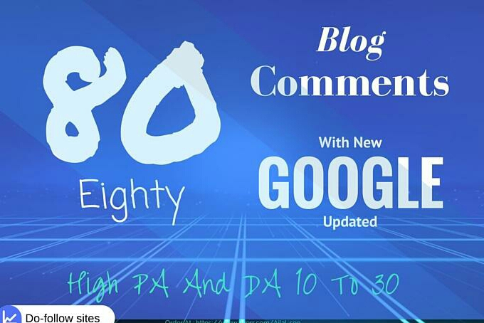 80 blog comments with high TF and CF