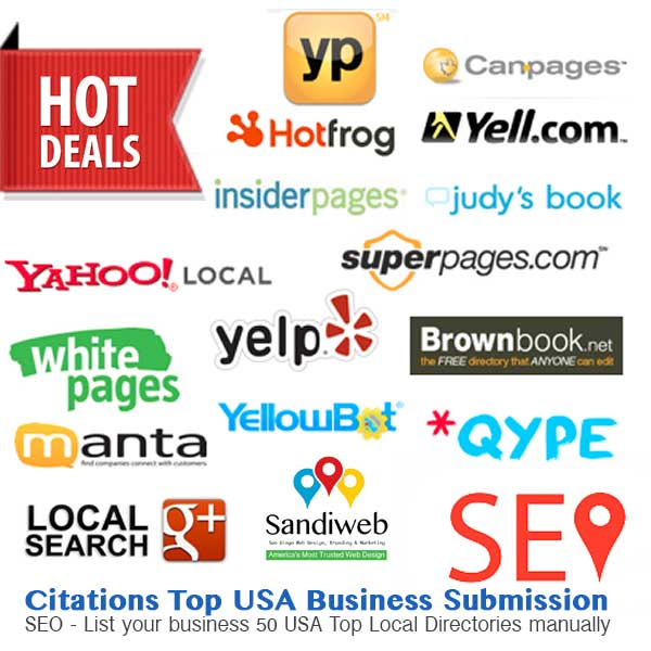 50 Top Business Directory Submission Manually for all Locations