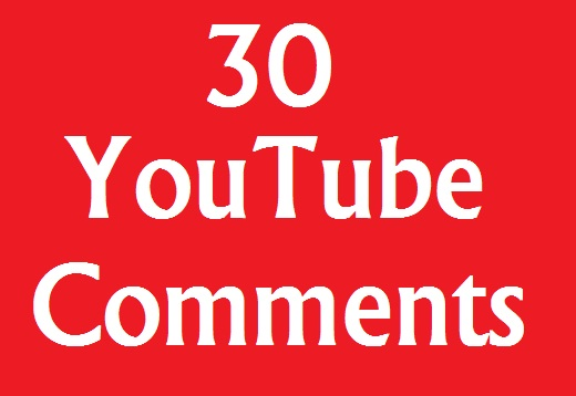 Guaranteed 30+ YouTube Custom Comments 1-5 Hours
