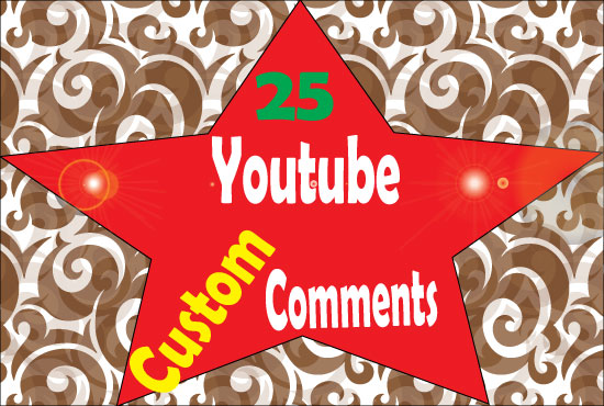 Get 25 you-tube custom comments  & 100 Likes in your video