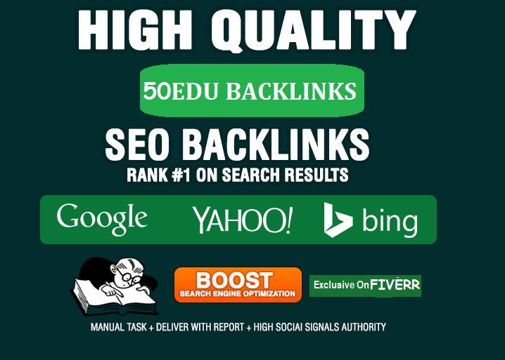Give 20 Edu backlinks to rank fast