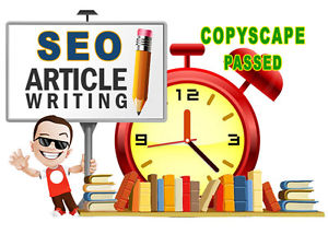 Get 1 Article 400 + Words,  Copyscape Passed,  SEO Friendly