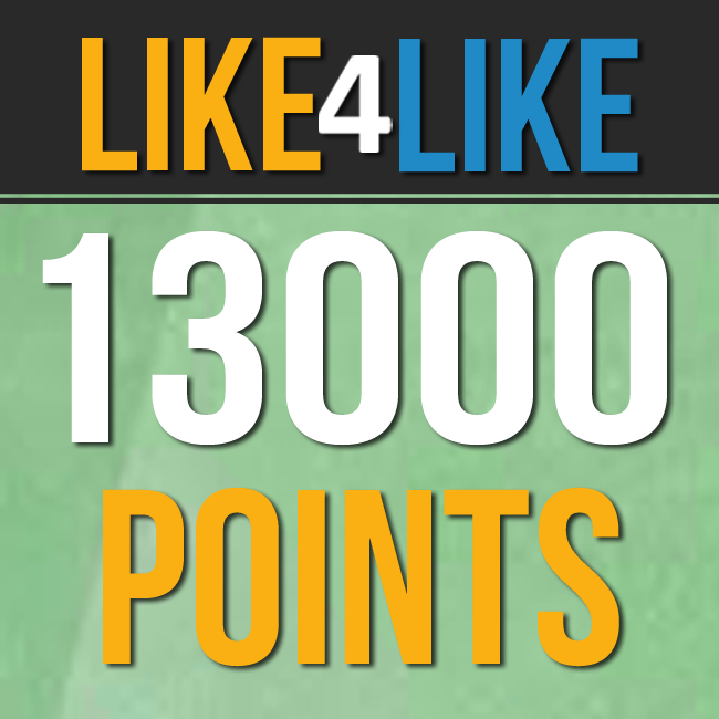 Like4Like INSTANT DELIVERY 13000 points  in 1 account