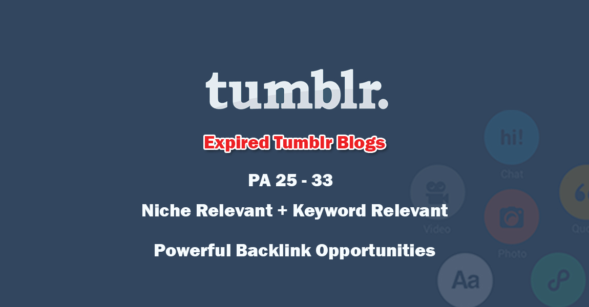 Tumblr High PA Expired Blog Service