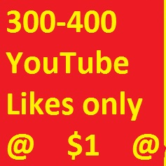 350 youtube likes  very fast delivery 12-24 hours