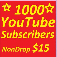 1000+  YouTube Subscribers Non drop Guaranteed Only