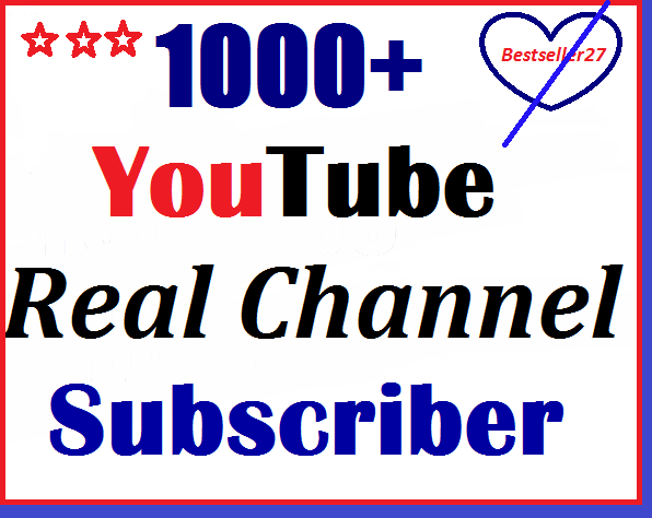 1000+  YouTube Sub scribers at a cheap price