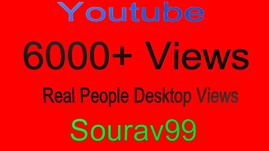 Youtube 6000+ Real People Desktop Views