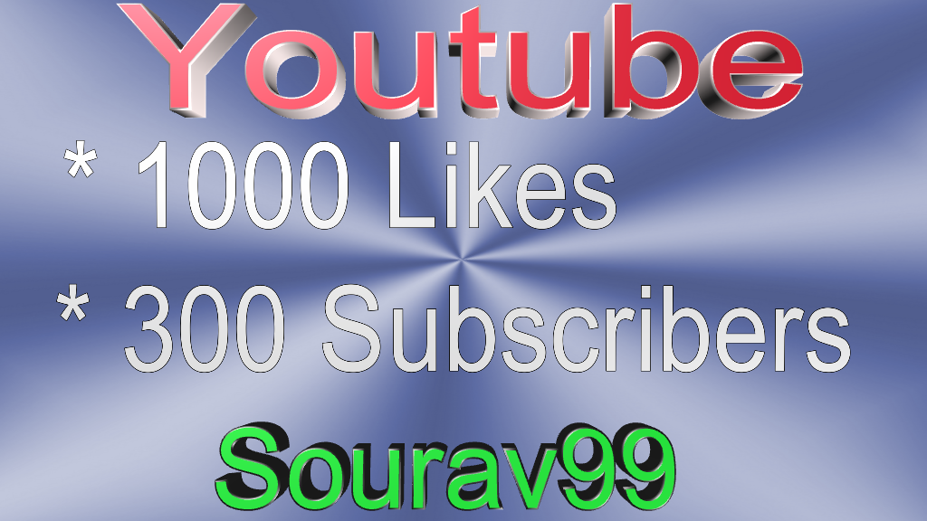 Youtube 1000 HQ Real Likes Or Soundcloud 1500 Followers