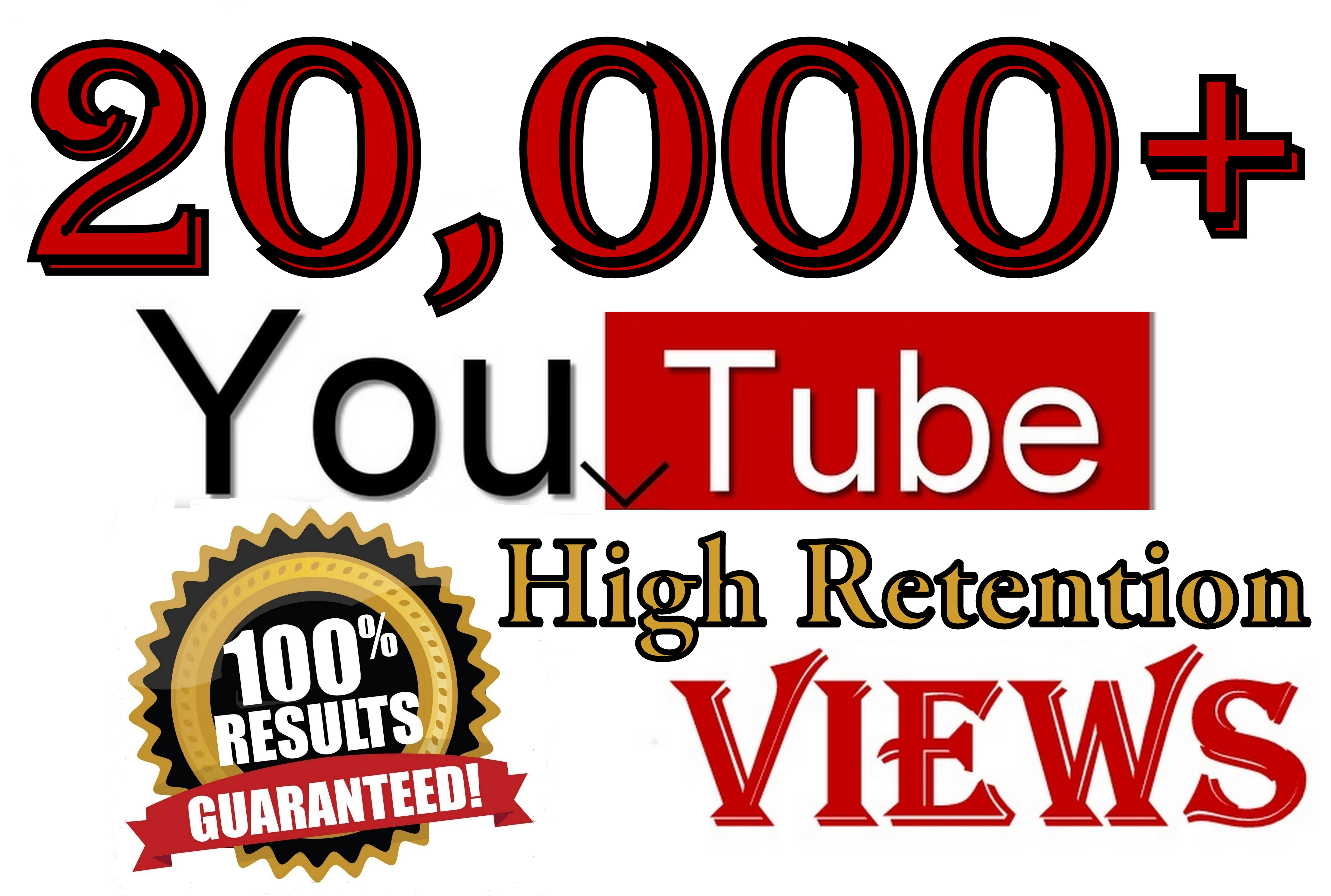 20000+ YouTube Real Human viewers Organic SeoPromotion