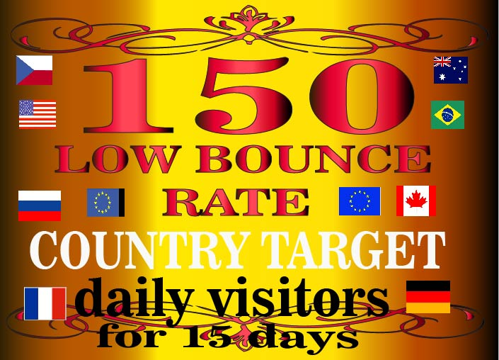 LOW BOUNCE COUNTRY based website traffic