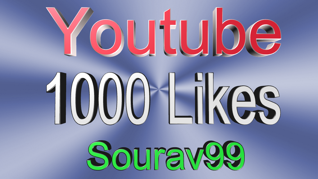 1100+ Youtube Video Likes or Soundcloud 1500 Likes Or Repost Or Followers