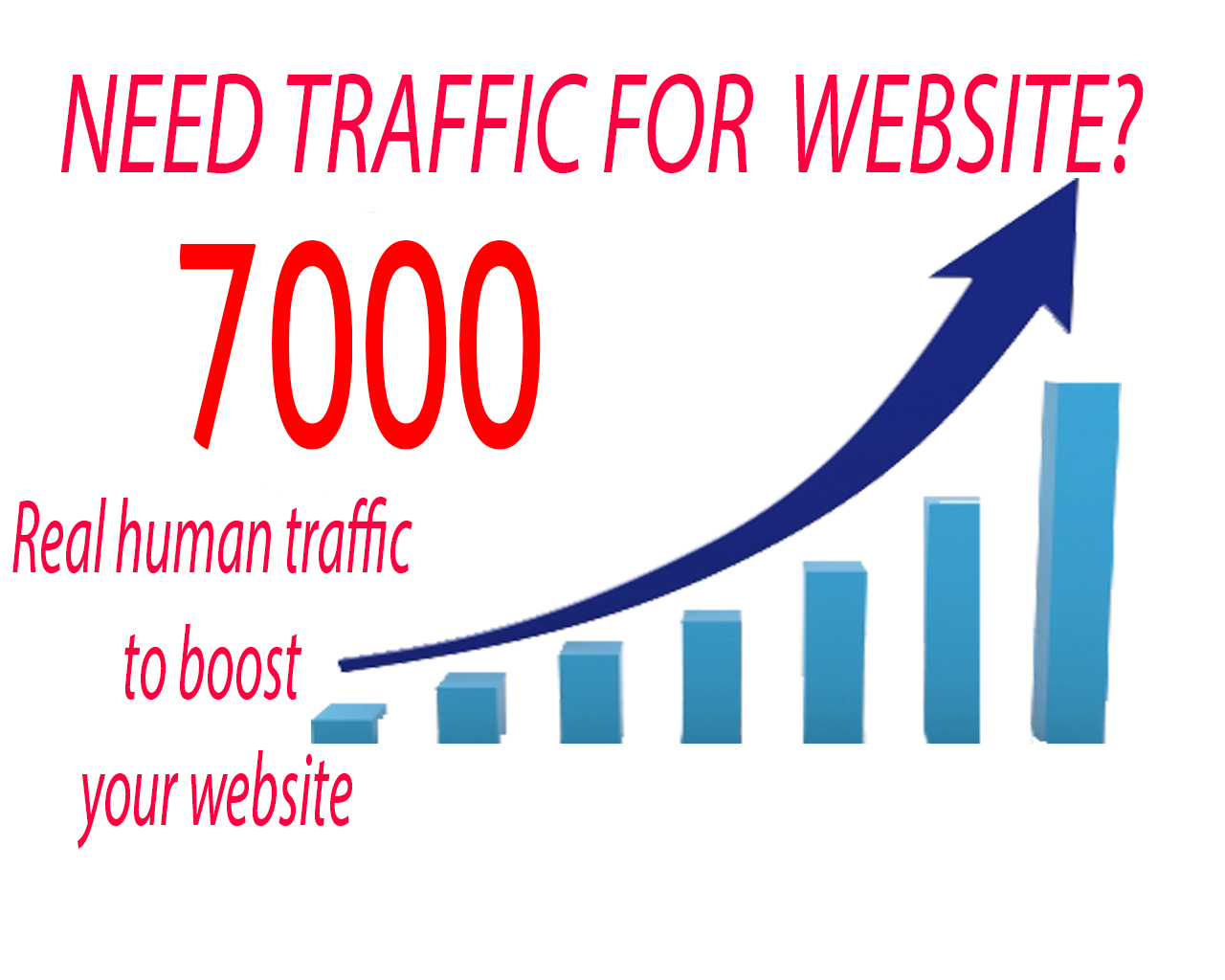 Boost your website with 7k visitors