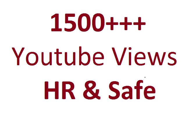 Get 1500 High Retension and safe YouTube Video Views Splitable