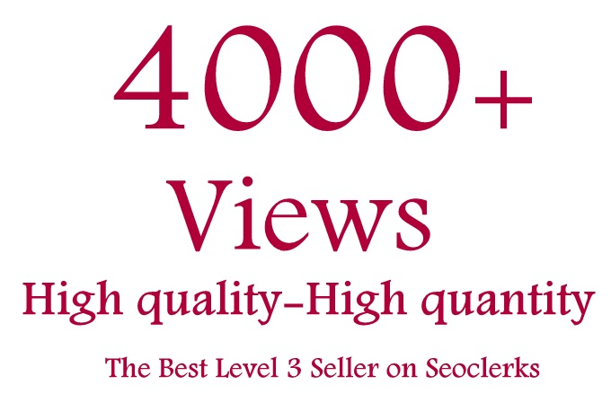 Get 4000 High Retension and safe YouTube Video Views Splitable