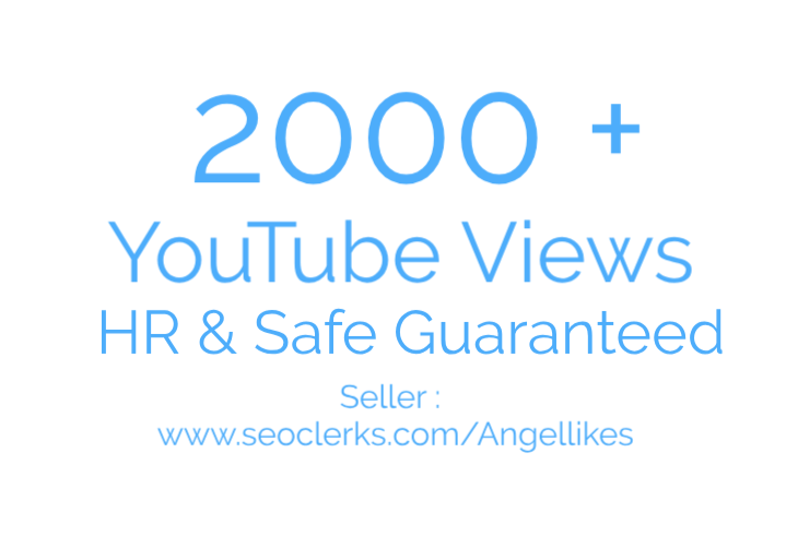 Get 2000 ++ High Retension and safe Guarantee video promotion