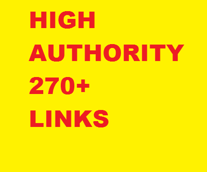 Manual 270+ links, High quality PR4 to 9, DA 45 to 99, 2 tiered from 170 domains. Valuable extras from