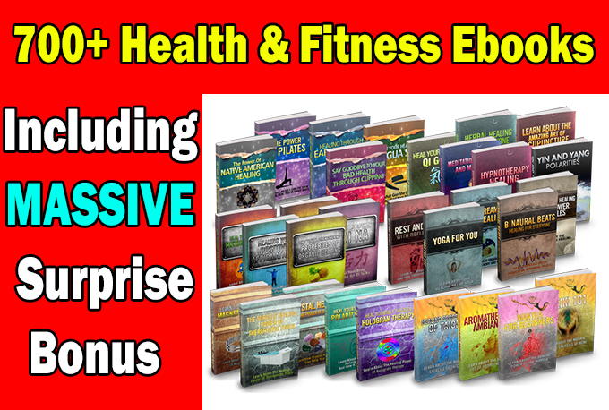 I will over 700 Health and Fitness EBooks with mrr plr