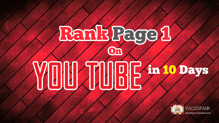 rank Your Video On Page 1 of YouTube in 10 days