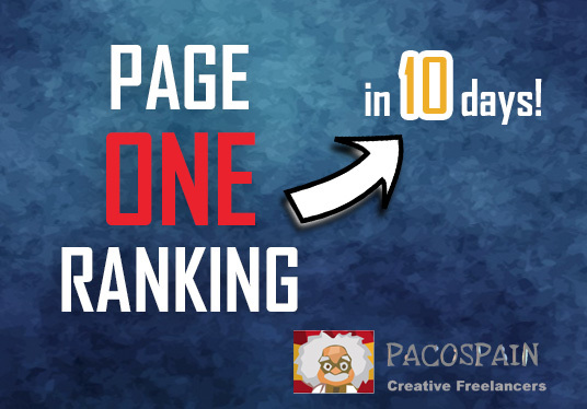 Get you Page 1 ranking in 10-15 days + FREE 300 daily visitors for 30 days