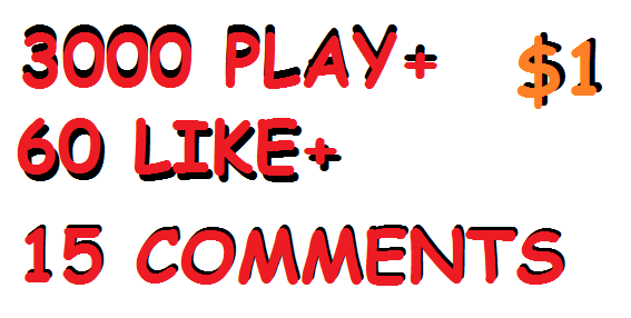 3000 play 60 like 15 comments