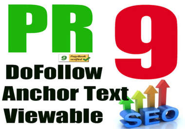 We create MANUALLY 10 High PR backlinks for your website