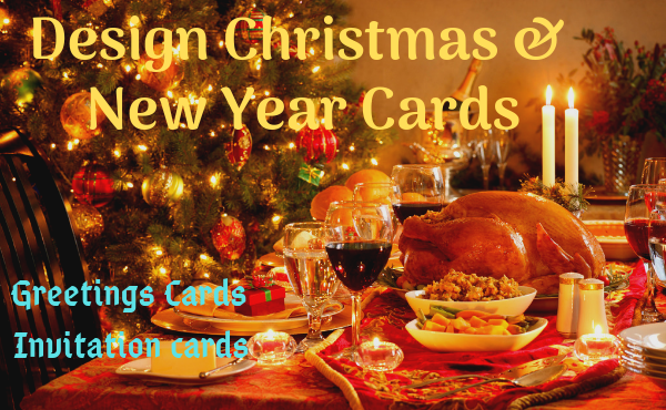 Design Christmas Flyer, Party Poster, Invitation Card, Greetings Card, Logo