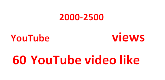 split able 3000 plus Non drooped YouTube views+ 20 Video like