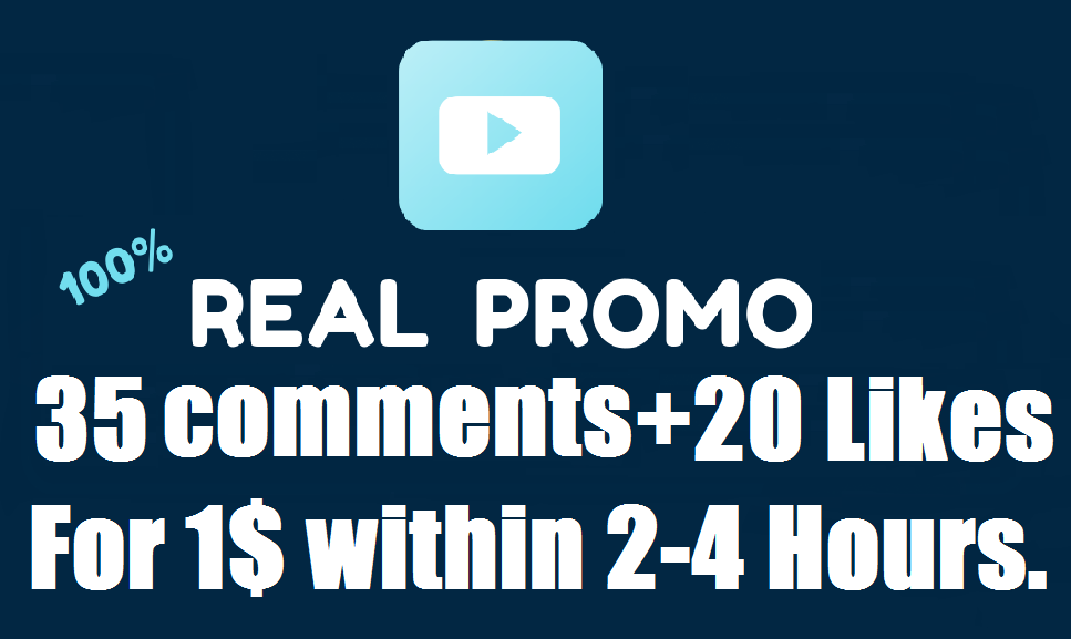 Manually 35 Real Custom comments+20 Likes within 2-4 hours