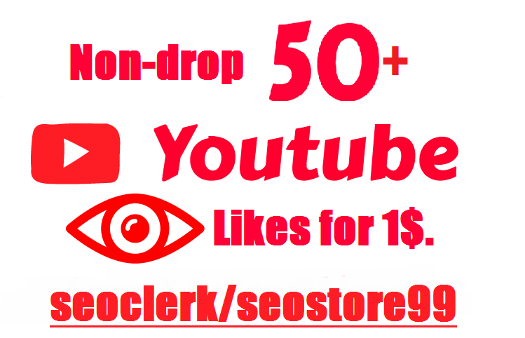 Non-drop guaranteed 50+ You-Tube Lik-es within 2-4 hours