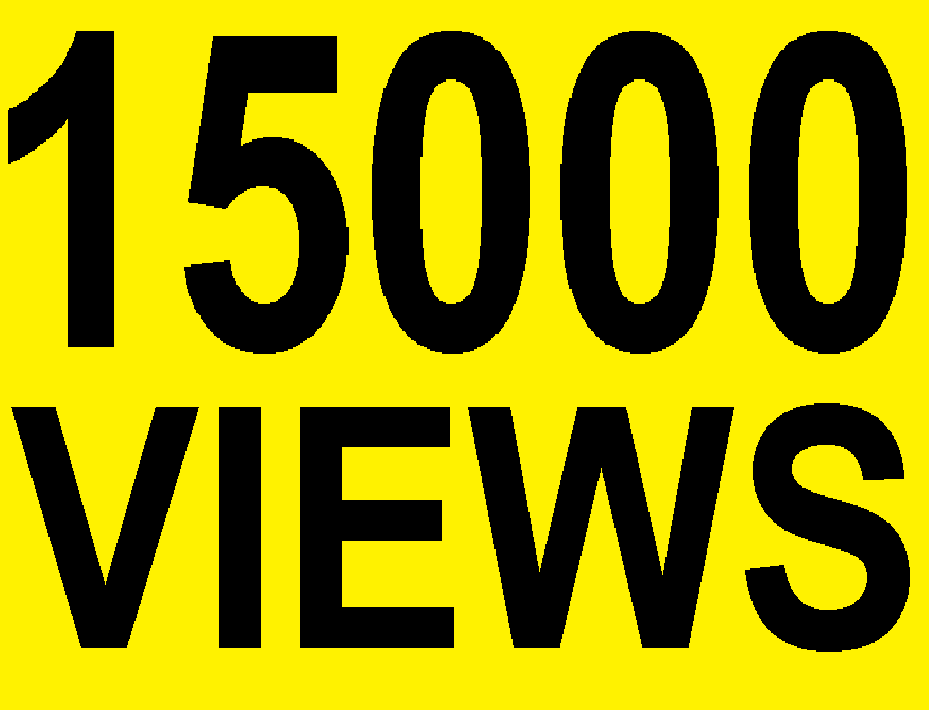 15000 HIGH RETENTION YOUTUBE VIEWS