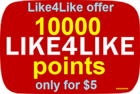 10,000+ like4like points 1 accounts give 5-10 minutes delivery Only