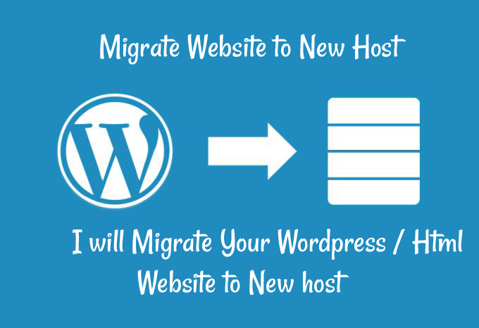 Move copy transfer migrate Wordpress or Html site to new host